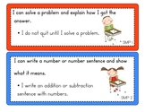 First Grade Standards of Mathematical Practice Display Cards