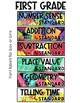 First Grade Stations by Standards Labels Free