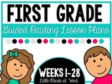 First Grade Step by Step Guided Reading Plans BUNDLED Weeks 1-28