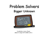First Grade Story Problems Bigger Unknown
