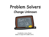 First Grade Story Problems Change Unknown