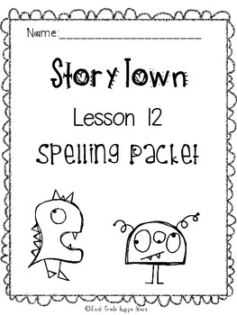 First Grade StoryTown Theme 2 Lesson 12 Spelling Activity Packet
