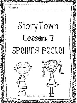 First Grade StoryTown Theme 2 Lesson 7 Spelling Activity Packet
