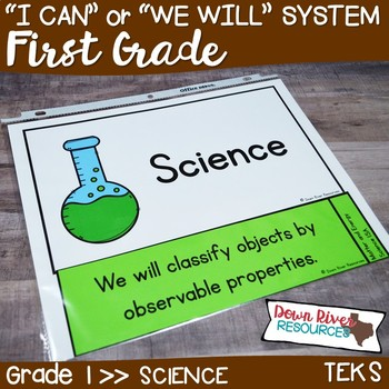 First Grade Streamlined Science TEKS I Can Statements
