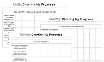 First Grade Student Data Notebook