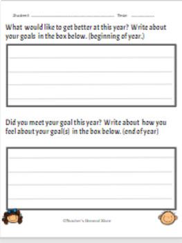 First Grade Student Data Sheets