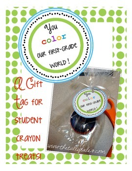Colorful First Grade Student Gift Tags *Freebie*