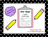 First Grade Student Profile Sheet