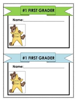 First Grade Student Work Topper