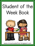 First Grade Student of the Week Book