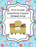 First Grade Sub Packet- No Prep!