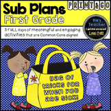 First Grade Sub Plans, A Bag of Tricks for When You Are Sick!