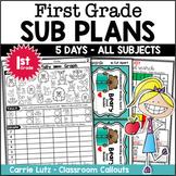 First Grade Sub Plans Emergency Sub Plans