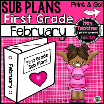 First Grade Sub Plans February-Winter