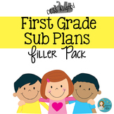 First Grade Sub Plans Filler Pack