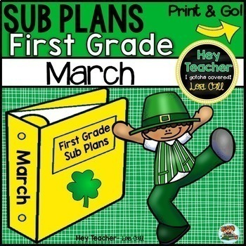 First Grade Sub Plans [March-St. Patrick's day]