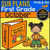 First Grade Sub Plans [October-Fall]