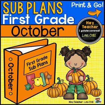 first grade sub plans [october-fall]