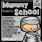 First Grade Sub Plans October Mummy