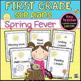 First Grade Sub Plans: Spring Fever!