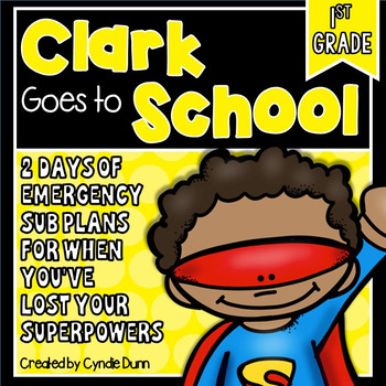 First Grade Sub Plans Superhero