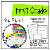 First Grade Sub Tub 1 ( Full Day! No Prep Substitute Plans)