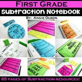 1st Grade Math Notebook:  Subtraction