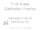 First Grade Subtraction Practice