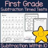 First Grade Subtraction Timed Tests {Fact Fluency within 10}