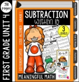 First Grade Subtraction to 10 Unit   Common Core Aligned & Differentiated