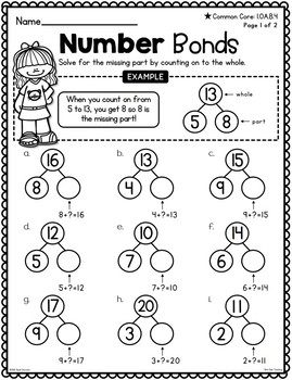 First Grade Subtraction to 20 Unit
