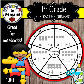 First Grade Subtraction Wheel Foldable