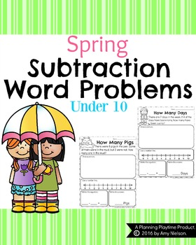 First Grade Subtraction Word Problems
