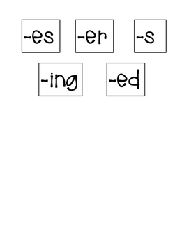 First Grade Suffix Building