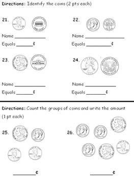 First Grade Summative Math Evalution