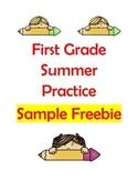 First Grade Summer Activities Sample Freebies