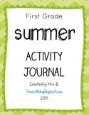 First Grade Summer Activity Journal