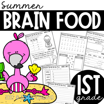 First Grade Summer Brain Food {Summer packet}