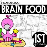 First Grade Summer Brain Food {Summer packet}