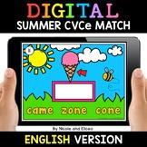 Summer Digital CVCe Word Work for Google Classroom 2 - Dis