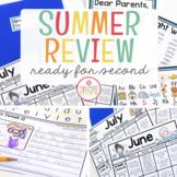 First Grade Summer Review Homework {Editable}