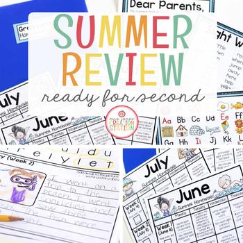SECOND GRADE READINESS SUMMER PACKET - EDITABLE