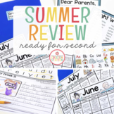 SECOND GRADE READINESS SUMMER PACKET FOR DISTANCE LEARNING - EDITABLE