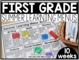 First Grade Summer Learning Menus | GOOGLE SLIDES™ |