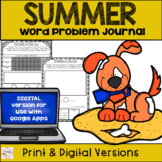 Summer Word Problem Practice - Print & Digital For Distanc