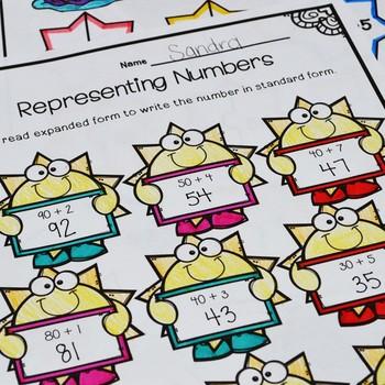 First Grade Summer Math No Prep Printables {TEKS/CCSS}