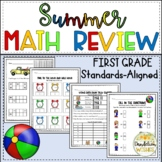 First Grade Summer Math Review Distance Learning