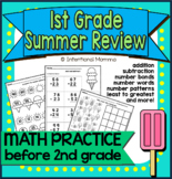 First Grade Summer Math Review Packet