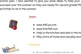 First Grade Summer Parent Letter