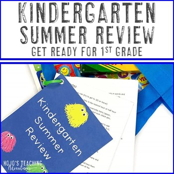 Editable Summer Review for Kindergarten - Parent Friendly Guide! {Summer Packet}